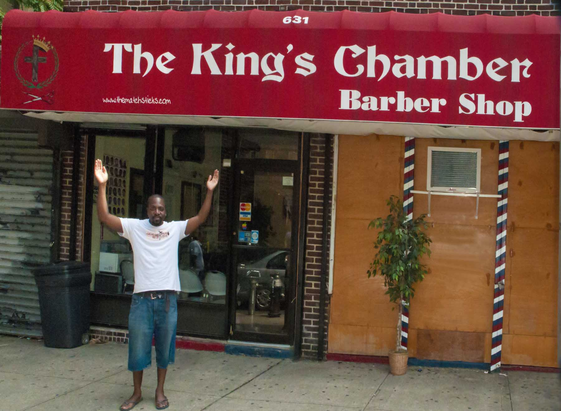 Hairstyling with Spirit @ The King's Chamber Barbershop, Flatbush, Brooklyn.