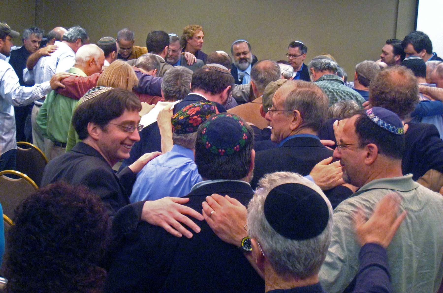 Messianic Jewish leaders gathered for prayer at Borough Park II conference this Spring.