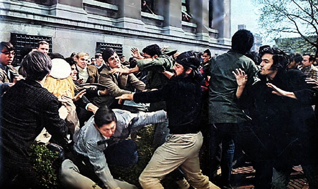 Columbia University in the 1960s & 1970s was embroiled in social and spiritual warfare. Photo: Life Magazine, 10 May 1968