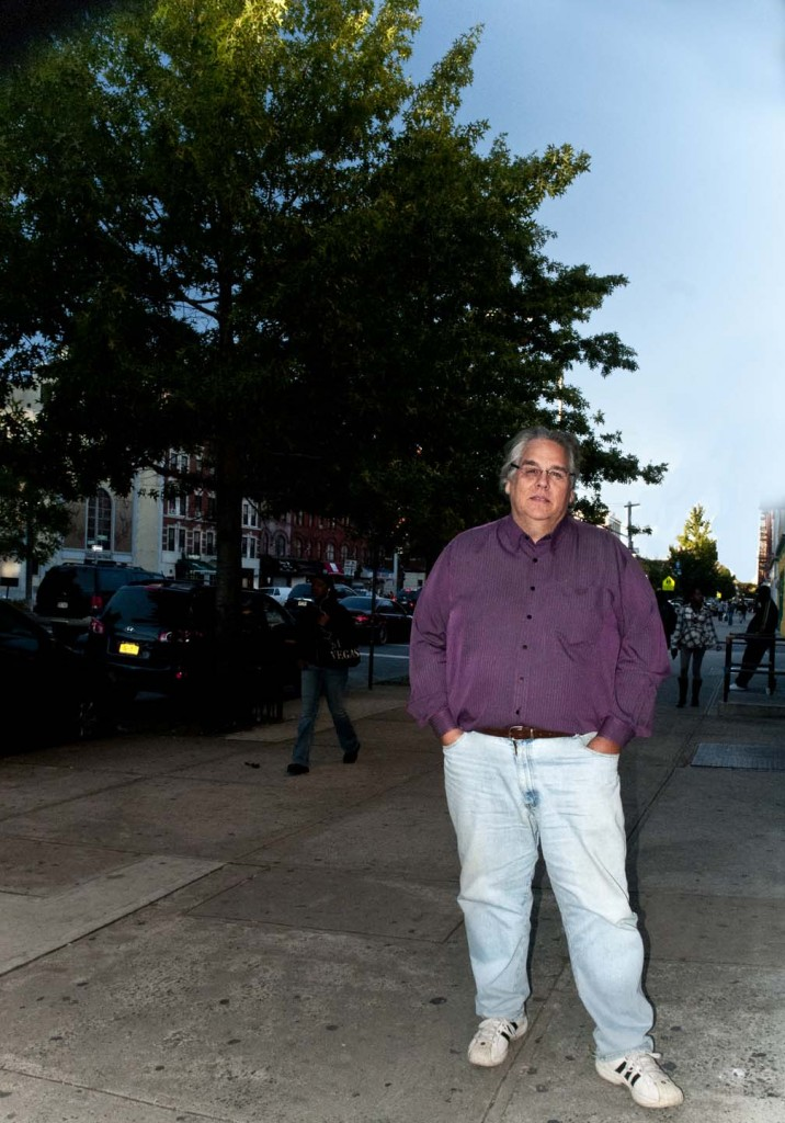 Former pastor stands outside the church Glad Tidings Tabernacle on 2207 Adam Clayton Powell, Jr. Boulevard. Photo: Tony Carnes/A Journey through NYC religions