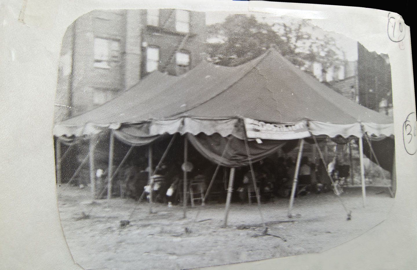 Tent Revival by Williamsburg Church of God in 1950s. Courtesy of church.