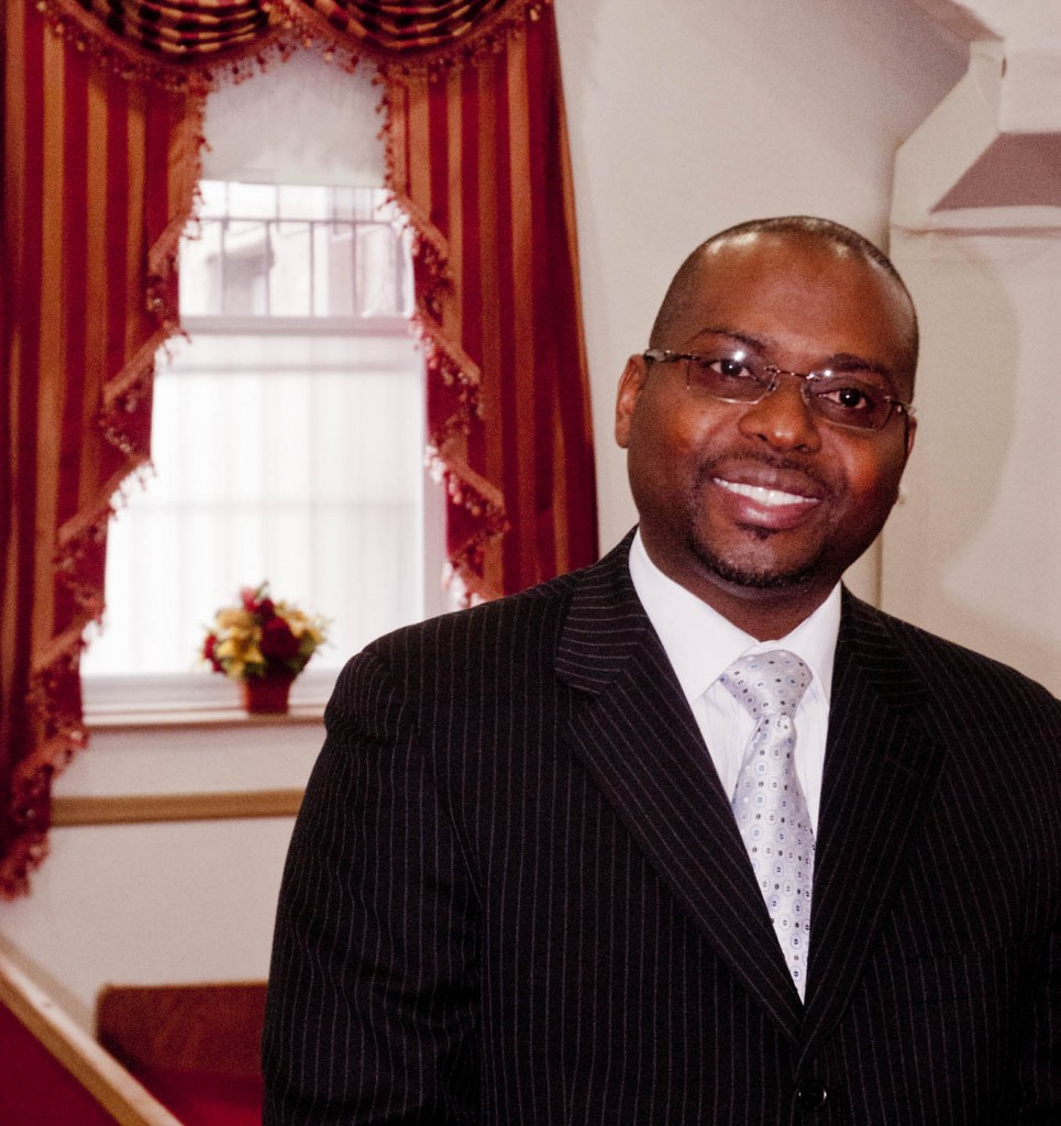 Pastor Warner Richards in the sanctuary of Shiloh SDA Church. Photo: Tony Carnes/A Journey through NYC religions