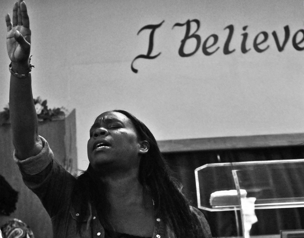 At United Baptist Church, Ralph Avenue, Crown Heights, Brooklyn. Photo: Tony Carnes/A Journey through NYC religions