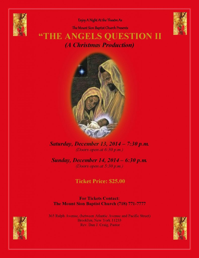 Mount Sion 2014 angels questions