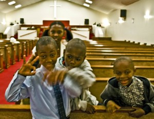 Church wrestles with the influence of gang culture on impressionable kids. Photo: Lyndsay Fields/A Journey through NYC religions