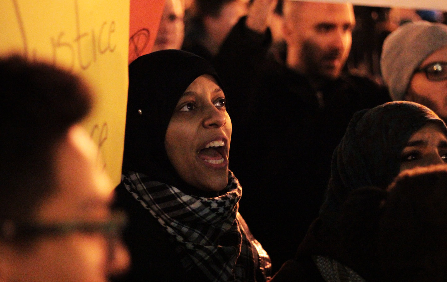 Protester from the Arab American Association of New York. Photo: Pauline Dolle/A Journey through NYC religions