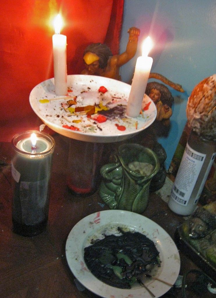 Candles are spiritual weapons on the battlefield of life. Photo: Pauline Dolle/A Journey through NYC religions