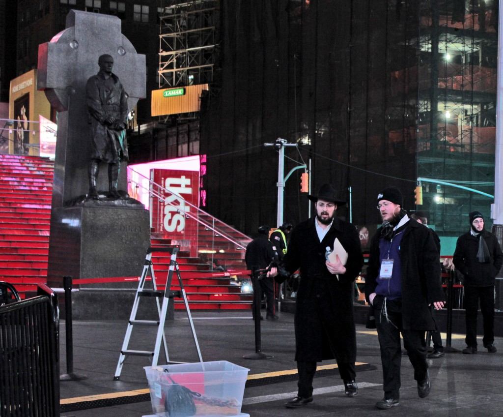 Set-up by the Chabad crew. Photo: Pauline Dolle/A Journey through NYC religions