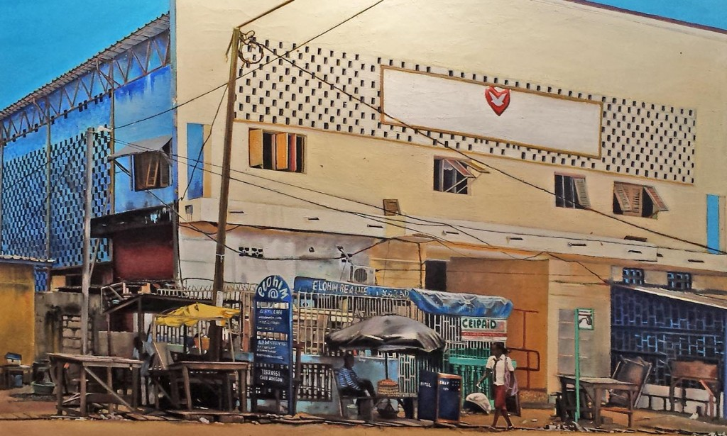 Detail from Cheikh Ndiaye's painting of Elohim (God) Store, Senegal. Photo: Tony Carnes/A Journey through NYC religions