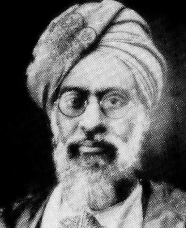 Mufti Muhammad Sadiq, the first missionary of the Ahmadiyya Muslim Community in the United States.