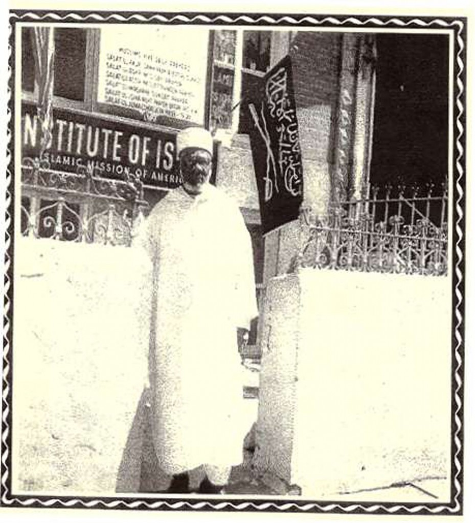 Shaikh Daoud Ahmed Faisal in front of The Islamic Mission of America 143 State Street, Brooklyn. Source: mancebomosaic.com