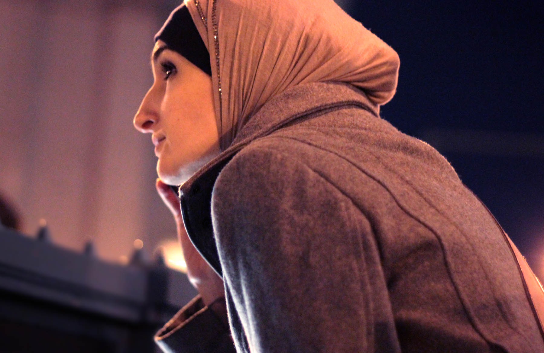Linda Sarsour during the Eric Garner protests last year. Photo: Pauline Dolle/A Journey through NYC religions