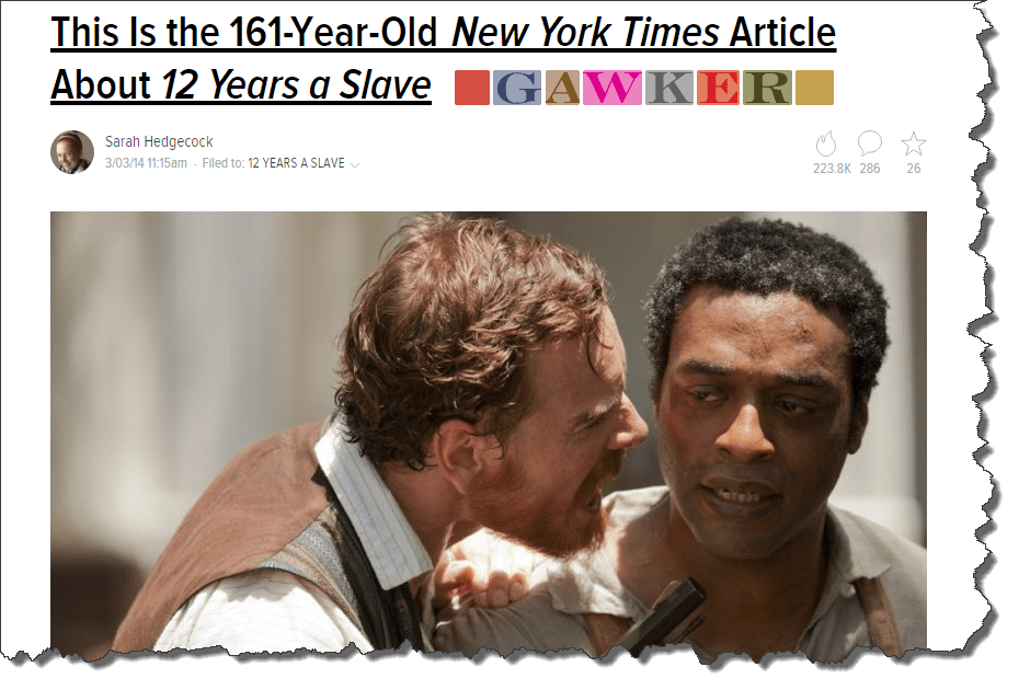 Gawker's 12 Years a Slave
