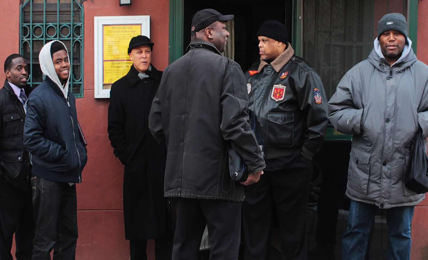 The Bishop and his revolutionary men. Photo: Pauline Dolle/A Journey through NYC religions